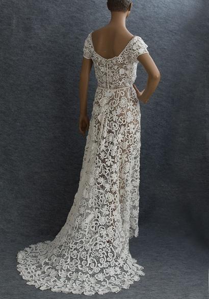 Crochet Vintage Lace Wedding Dress – fashion dresses