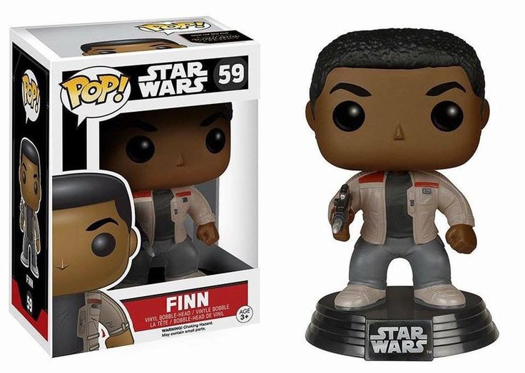Cabezón soldado Finn 10 cm. Star Wars Episodio VII. Línea POP!. Funko Estupendo cabezón del soldado Finn de 10 cm, fabricado en vinilo de alta calidad y 100% oficial y licenciado visto en Star Wars Episodio VII. Un cabezón perfecto como regalo a los fans.