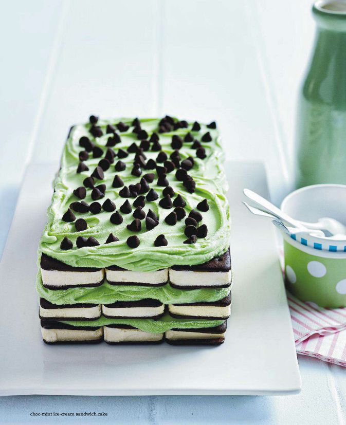 Choc-mint ice-cream sandwich cake. Donna Hay Kids' Magazine 2013
