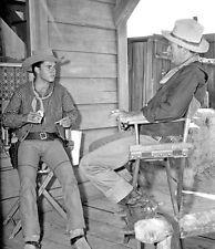 JOHN WAYNE Rio Bravo HOWARD HAWKS 8x10 CANDID #19 The Duke with Ricky Nelson
