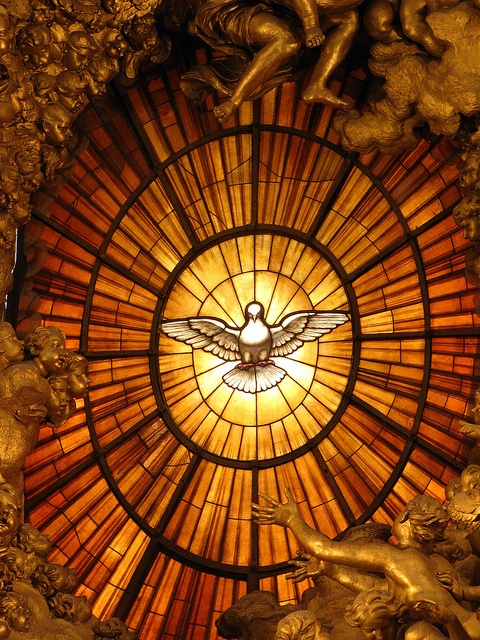 Stained Glass Window in St. Peter's Basilica, Vatican City by Gibley
