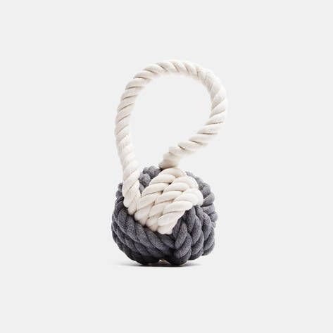 Max Bone — Grey And White Hobie Nautical Knot Rope Tug Toy — THE LINE