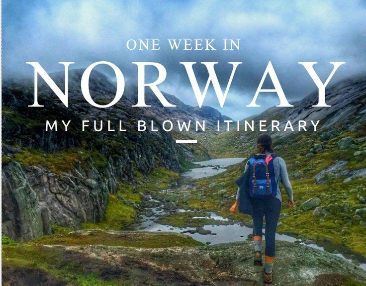 Here is my full itinerary for 1 week in Norway covering Geiranger Fjord, Trollstigen, Trolltunga, Kjerag, Bergen and Stavanger. Transportation, hotels and a