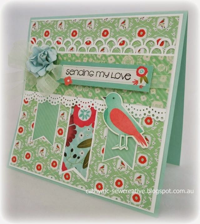 Kaisercraft ~ Spring Bloom ~ Card and Multi Pocket Page