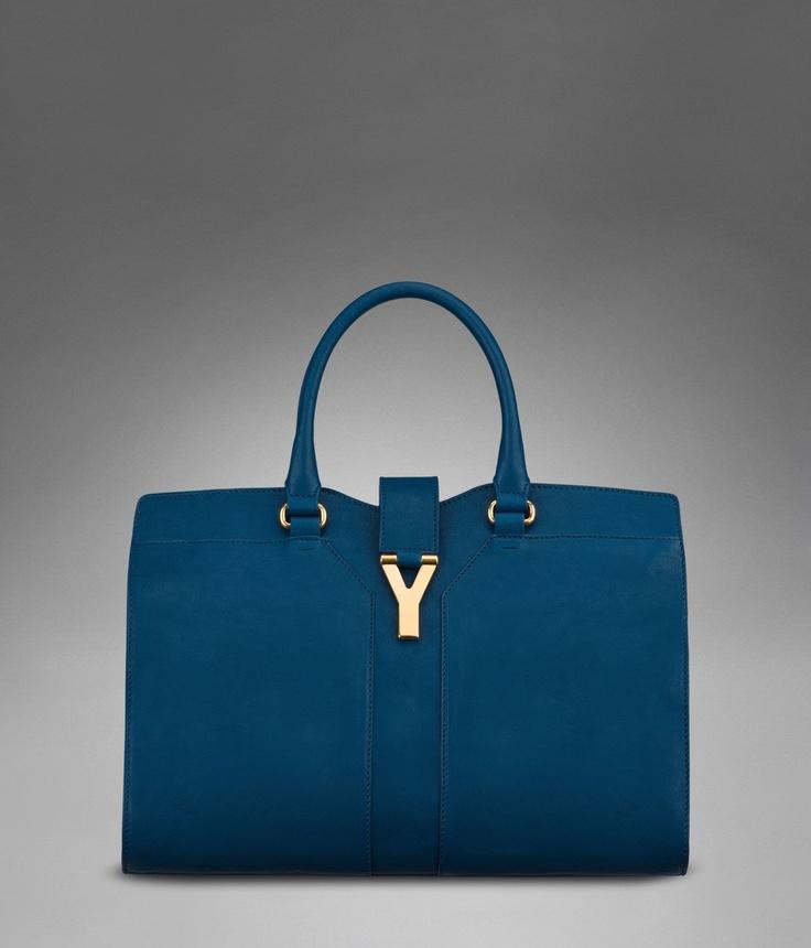 My next bag: YSL medium Chyc Cabas in Peacock BlueHandbags Fetish, Yslpeacock Bluedreami, Cabas Chyc, Ysl Peacocks Blue Dreamy, Blue Leather, Bags Lady, Chyc Cabas, Women'S Handbags, Birthday Gifts