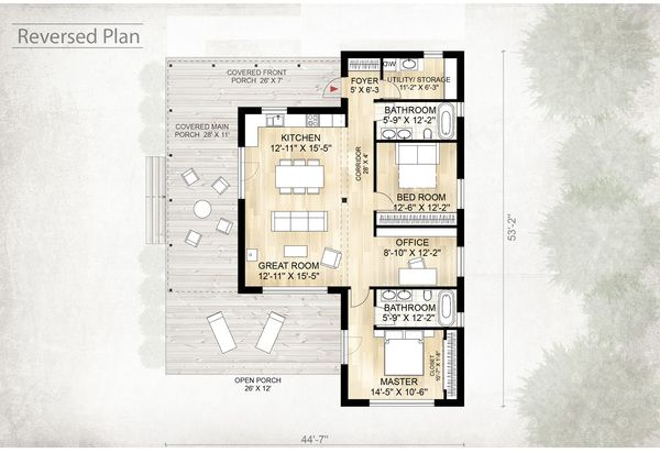 Style House Plan 2 Beds 2 Baths 1230 Sq Ft Plan 924 2 Floor Plan