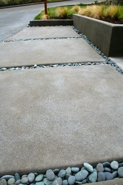 Contemporary front yard makeover - contemporary - spaces - portland - Visionscapes NW Landscape Design