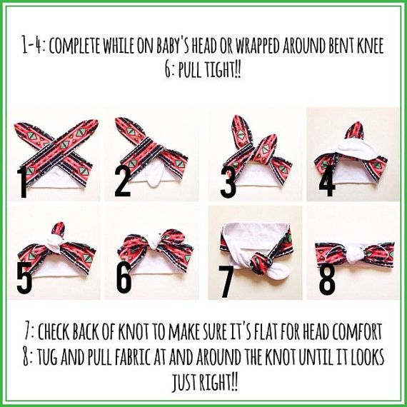NOT FOR SALE Head Wrap Tie Instructions by BaybeeChickBoutique  – baby
