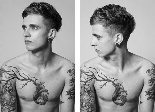 I love this heart tattoo...but instead of a real branch I want a vein branching off of that.