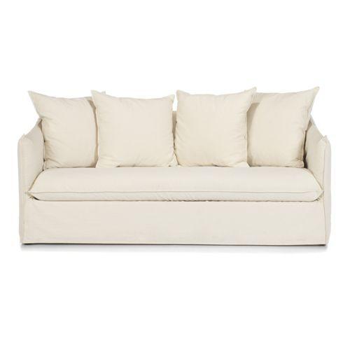 Canapé 3 places fixe déhoussable - Saari
