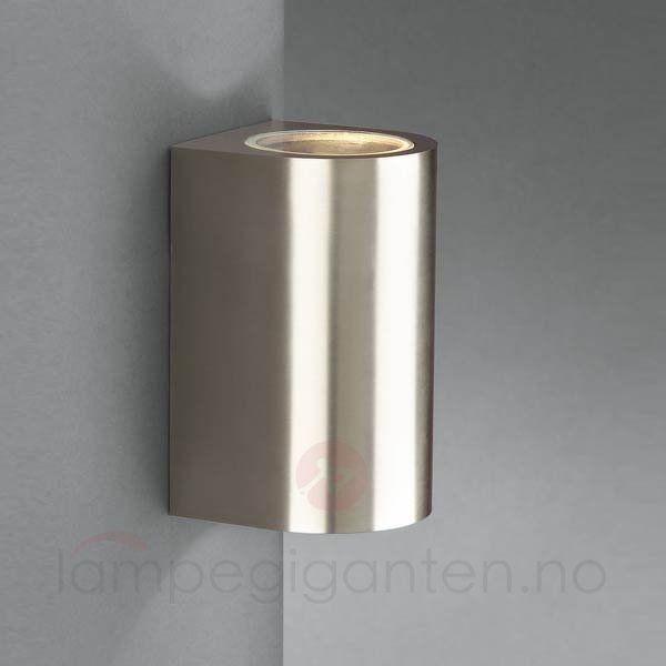 Dantes utendørs vegglampe i rustfritt stål 6500660