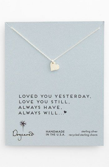 WANT!  Dogeared 'Love - Sparkle Heart' Boxed Pendant Necklace | Nordstrom.    {loved you yesterday, love you still, always have, always will...<3}