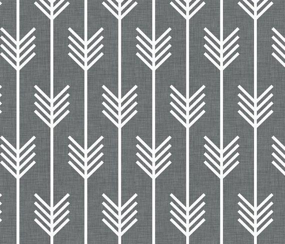 Feuille de crèche équipée en flèches Charcoal par OliveAndAndrew, $55.00