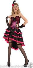 New Ladies Women's Saloon Girl Adult Costume Wild West Fancy Dress Outfit