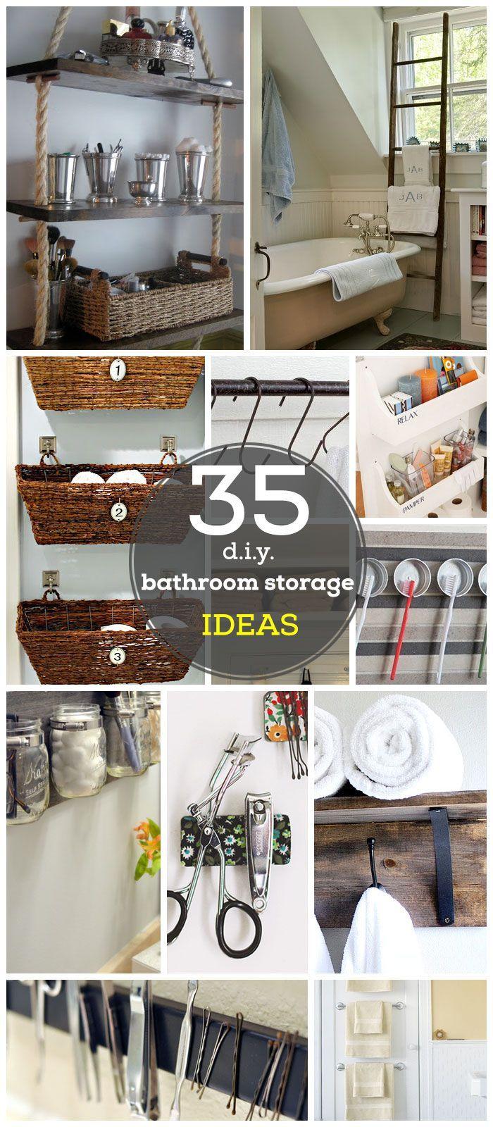 Diy small bathroom storage ideas - Diy Small Bathroom Storage Ideas