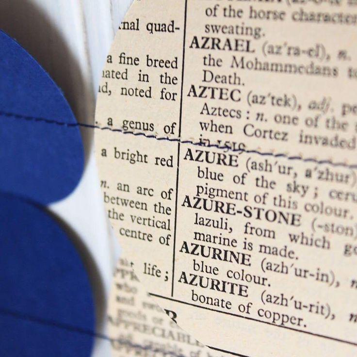"15 Likes, 2 Comments - A little Bit Of Lemon (@alittlebitoflemon) on Instagram: ""Ah serendipity! . . . #alittlebitoflemon #blue #azure #garlands #dictionary #serendipity…"""