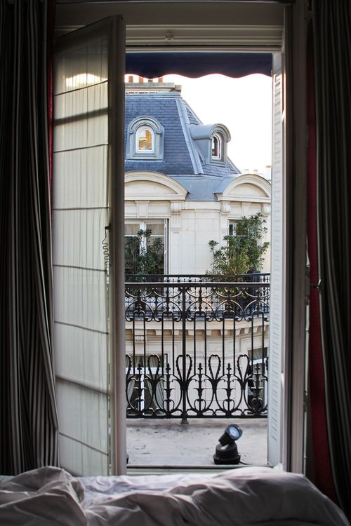 Paris balcony views