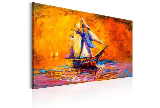 Obraz na ścianę z pejzażem marynistycznym. Ciepłe, czerwone barwy przywołają najwspanialsze wakacyjne wspomnienia!