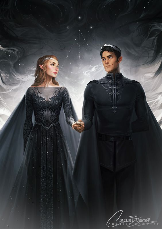 High Lord and Lady of the Night Court by Charlie Bowater