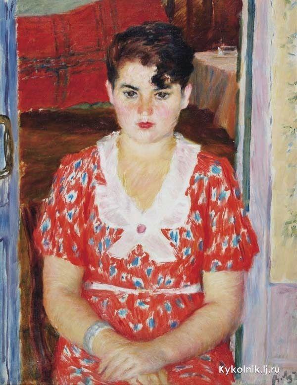 Лебедев Владимир Васильевич (Россия, 1891-1967) «Девушка с челкой» 1924