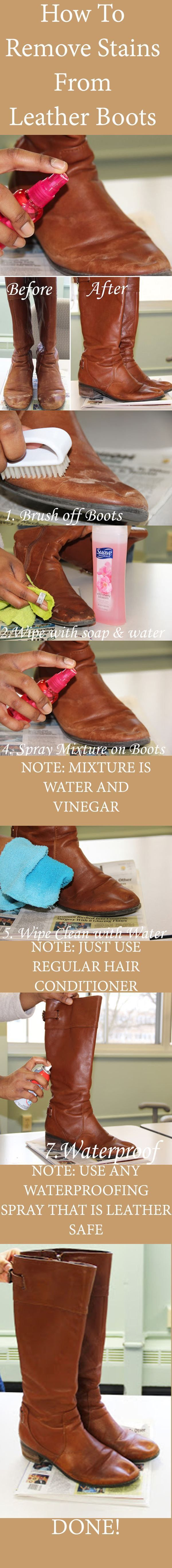 Remove stains on leather