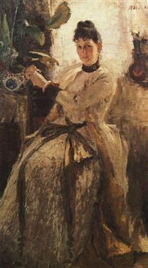 Portrait of Sofia Golitsyna - Konstantin Korovin