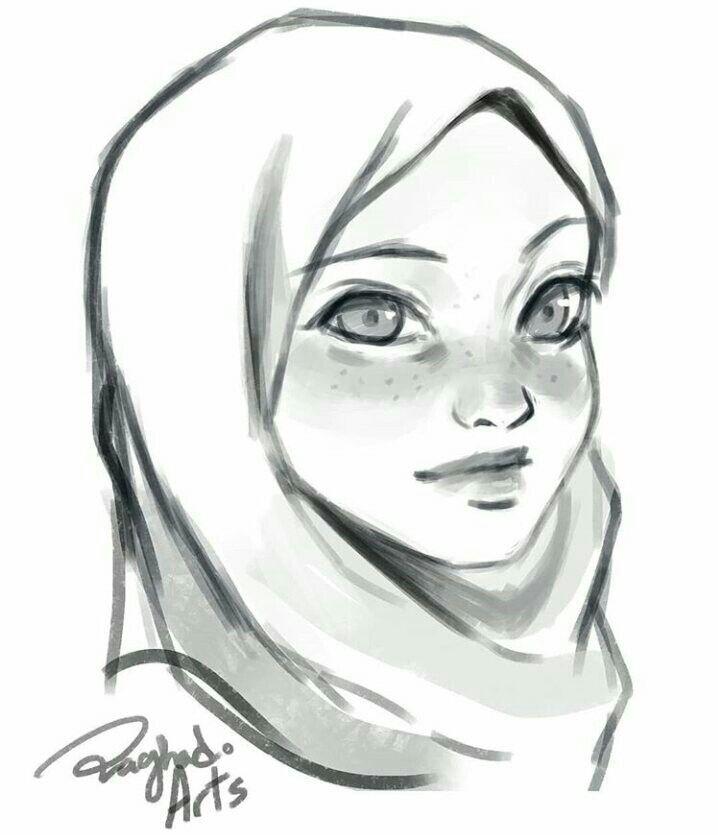 Hijab Drawing Hijab Drawing Girl Drawing Sketches Art
