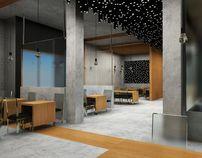 restaurant interior / projekt wnętrza restauracji