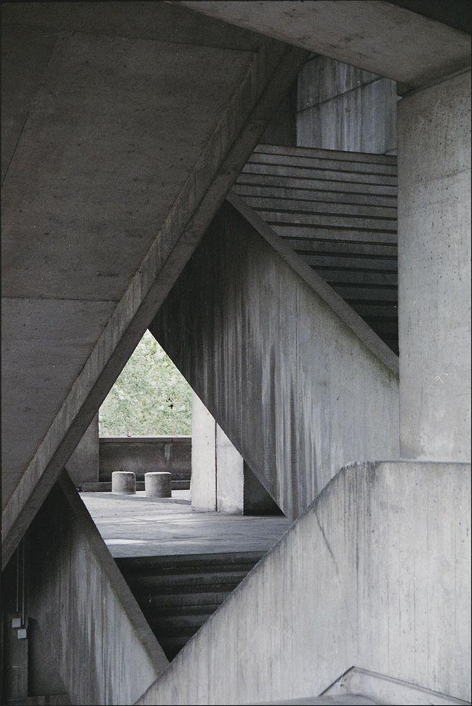 Modern concrete architecture.