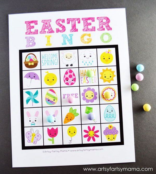Looking for Easter party games? This Easter bingo game is a fun and creative idea for your Easter celebration.