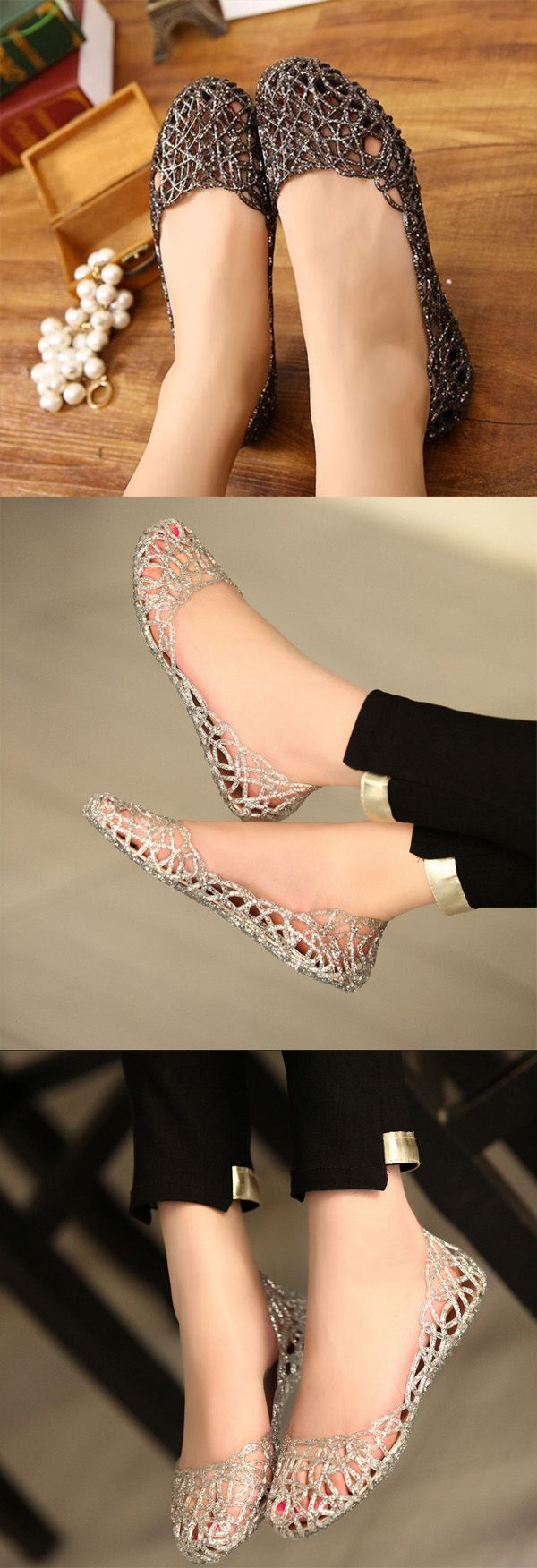 $5.10 Bling Breathable Candy Color Flat Shoes