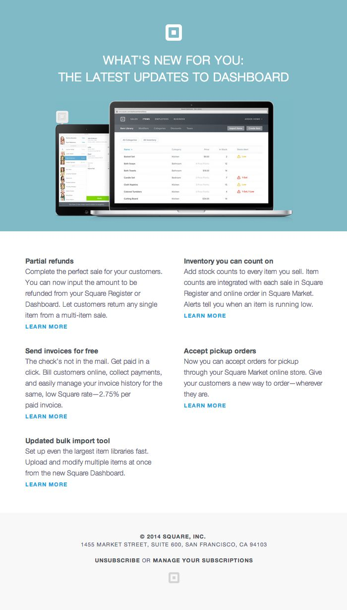 Email design inspiration by html email designs