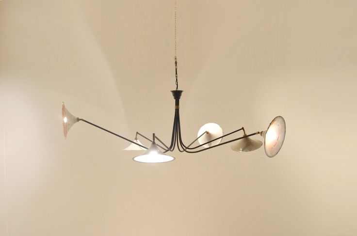 French Mid Century * AmAzInG * Sipder Man Chandelier - NEW ! - 20ème Siècle