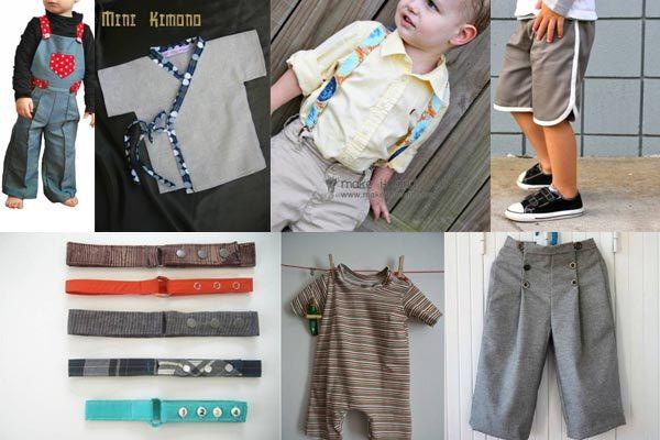patrons couture garcon 15 tutoriels de couture pour coudre des vêtements de garçons