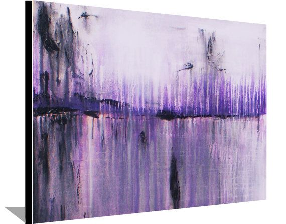 Abstract Painting Original Painting on Canvas Purple Painting Acrylic Wall Decorations Modern Art 30x24 by Heather Day Free Shipping