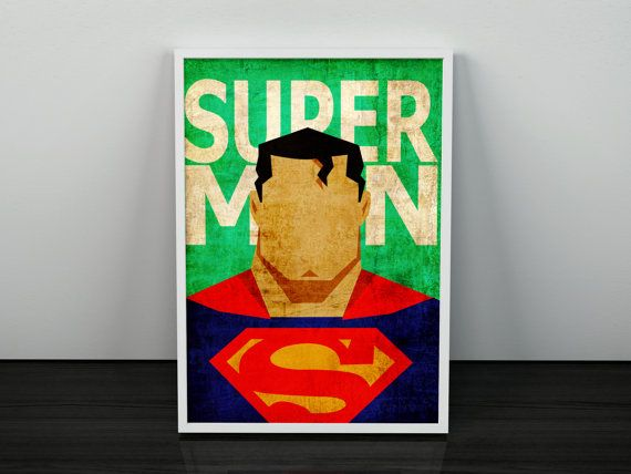Hey, I found this really awesome Etsy listing at https://www.etsy.com/listing/256672908/superman-poster-superhero-minimalist