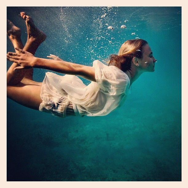 Sometimes this is all I need to do... submerge myself in water and escape the world! :) by Elena Kalis
