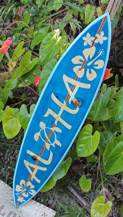 Beautiful Made in Hawaii Artistic Surfboards, Decorative Surfboards, Surfboard Shelves, Surfboard Tables