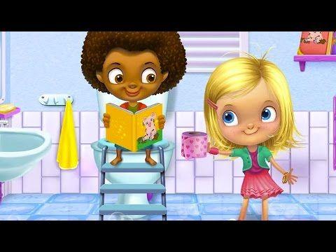 Пенная вечеринка Девочка купается в ванной Малыш захотел в туалет Чистим...
