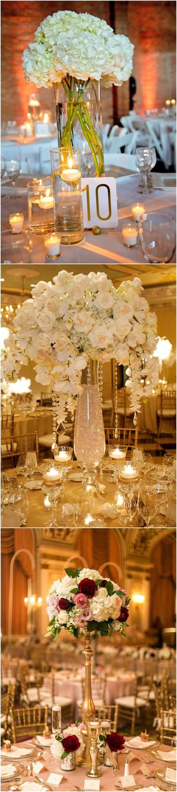 Tall wedding centerpieces with flowers #weddingcenterpieces #wedding #weddingflowers #weddingdecor http://www.deerpearlflowers.com/tall-wedding-centerpieces/