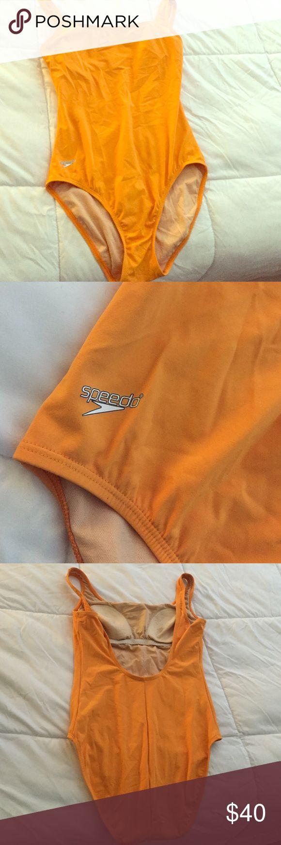 ☀️ Orange Speedo ☀️ Brand new. Never worn. Orange one piece speedo. Very unique color for speedo. Great fit. Speedo Swim One Pieces