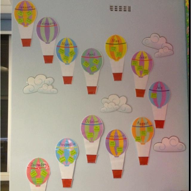 Birthday Chart Balloon