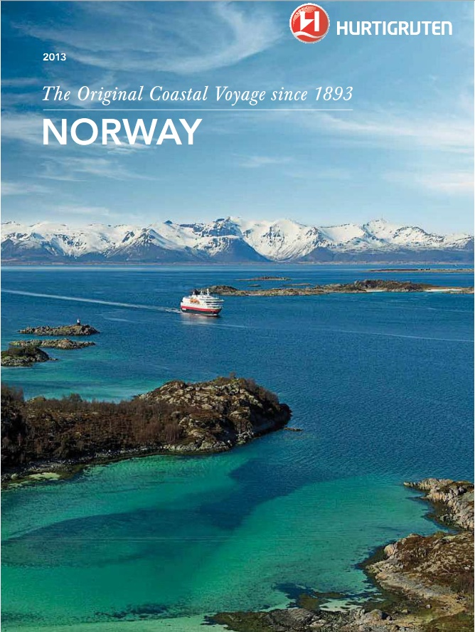 Main Hurtigruten Norway brochure for 2013 season