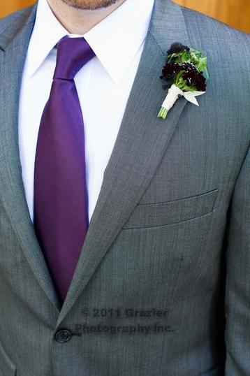 grey suit plum tie my bronx zoo wedding pinterest