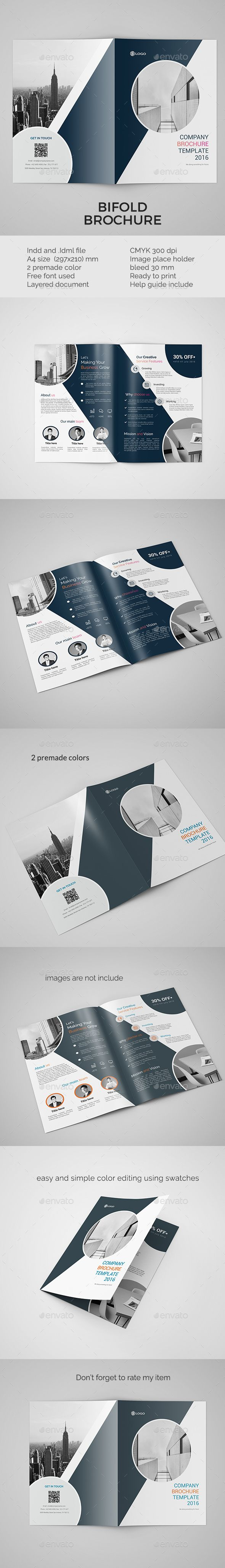 Corporate Bifold Brochure Template InDesign INDD. Download here…