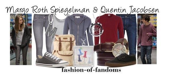 """Margo Roth Spiegelman and Quentin Jacobsen"" by fofandoms ❤ liked on Polyvore featuring H&M, Velvet by Graham & Spencer, Wildfox, Converse, Pandora, Sunspel, Olivia Pratt, Vans and Footnotes Too"
