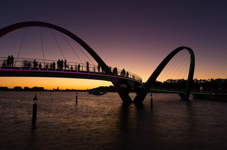 The foot bridge at Elizabeth Quay