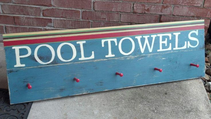 Pool towel sign
