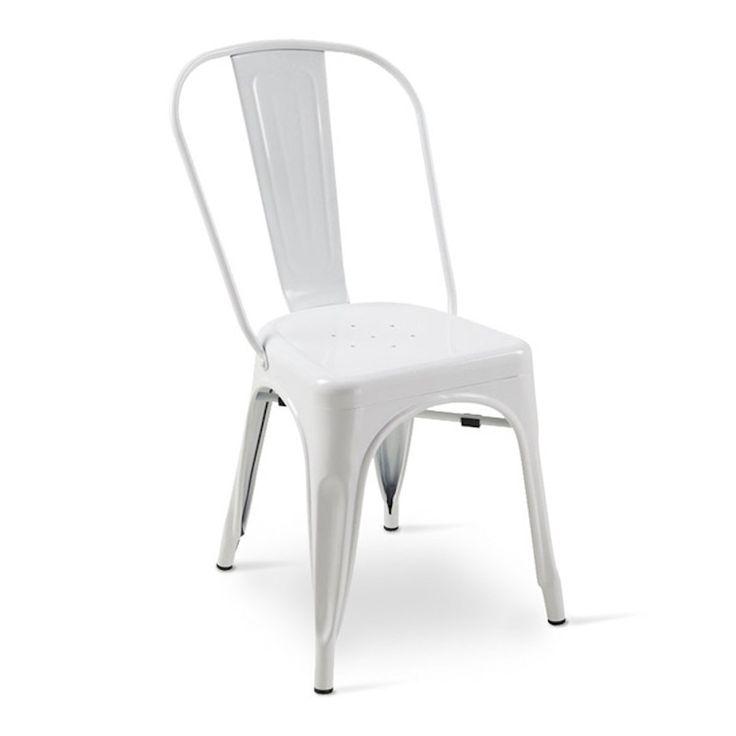 € 82,00 OLMO #sconto 50% #sedia #vintage in metallo, #leggera, #impilabile, di colore #bianco. In #offerta prezzo su #chairsoutlet factory #store #arredamento. Comprala adesso su www.chairsoutlet.com