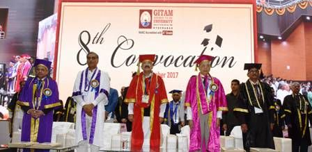 Hon'ble Vice President of India participated in the 8th Convocation of Gitam University